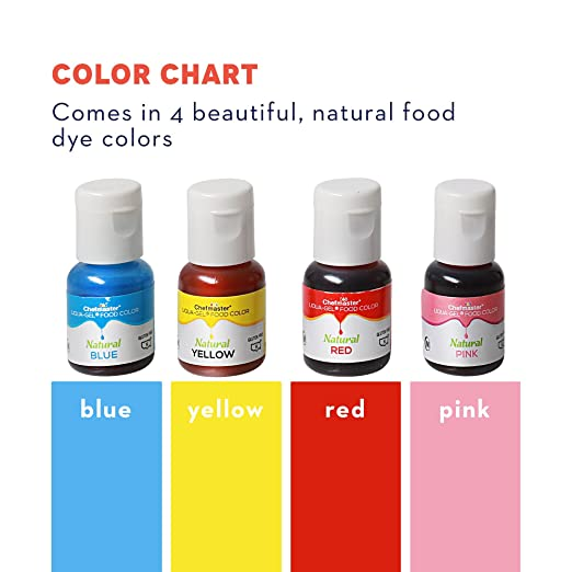 Amazon.com : Chefmaster Natural Plant Based Food Coloring, Assorted ...