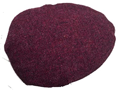 2384272a6 Made in USA Flat Ivy Scally Cap Maroon Scottish Tweed by Mac Belford ...