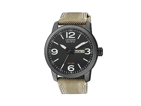 Citizen BM8476-23E - Reloj analógico de cuarzo para hombre, correa de nailon color beige: Amazon.es: Relojes