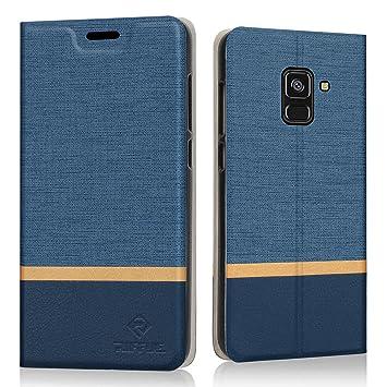 RIFFUE Funda Samsung Galaxy A8 2018, Carcasa Delgada Libro de Cuero con Tapa Cartera de Ranura y Billetera Elegante Case Cover para Samsung Galaxy A8 ...