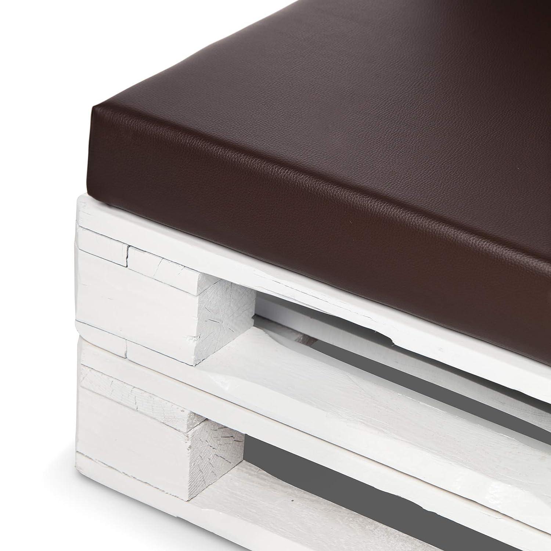 SUENOSZZZ - Asiento cojin para palets (1 x Unidad) Cojin Relleno con Espuma. Color Chocolate | Cojines para Chill out, Interior y Exterior, Jardin | ...