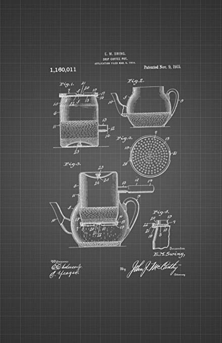 Framable patent art the original poster art print retro coffee framable patent art the original poster art print retro coffee grinder percolator 11in by 17in patent malvernweather Gallery