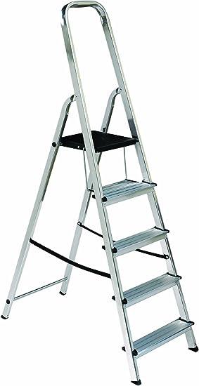 Escalera plegable escalera de cuerda niveles de escalera de tijera Elkop{7} con niveles de base y en la muñeca nivel: Amazon.es: Bricolaje y herramientas