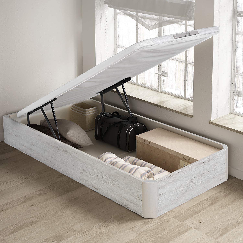 PIKOLIN, canapé abatible de almacenaje Color Gris Glaciar 105x190, Servicio de Entrega Premium Incluido