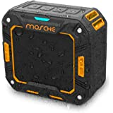Bluetooth Speakers, Mosche Portable Waterproof Bluetooth Speaker 5W for Shower and Outdoor (Black/Orange)
