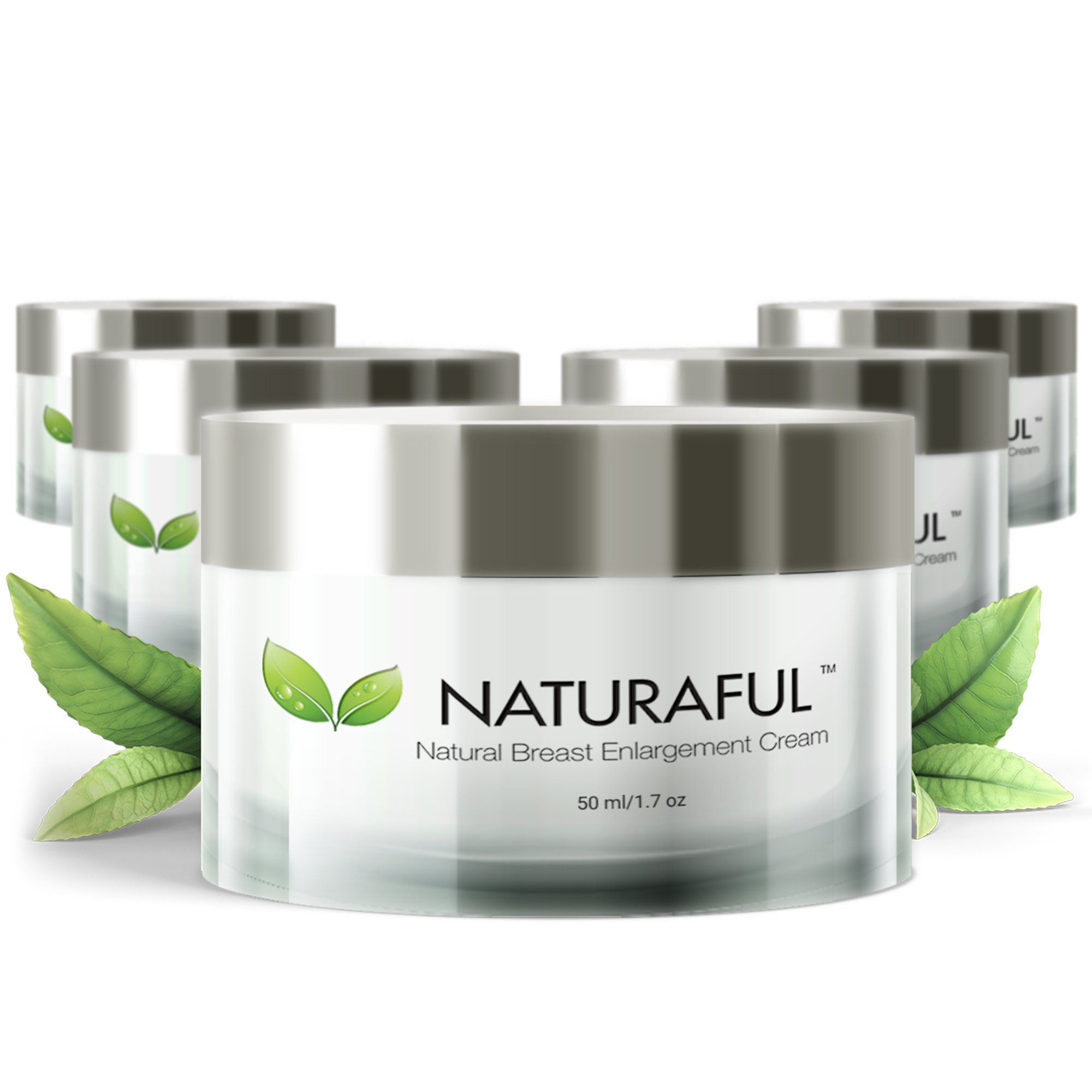 NATURAFUL - (5 JAR SUPPLY) TOP RATED Breast Enhancement Cream - Natural Breast Enlargement, Firming and Lifting Cream | Hormone Balancing, Made from Plant Extracts, Trusted by Over 100,000 Users by Naturaful (Image #1)