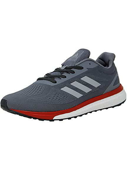 premium selection 6e1cd 0e6c8 Adidas Mens Response Lt GreySilver Metallic Scarlet Ankle-High Fabric  Running Shoe -
