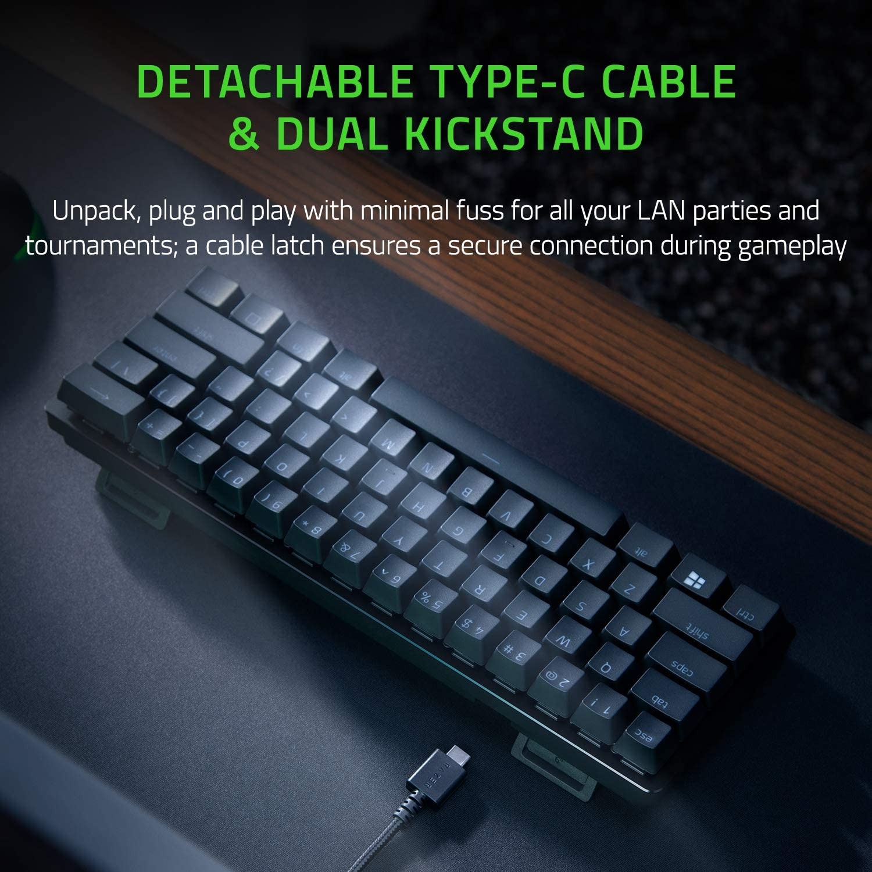 Razer Huntsman Mini - Linear Optical Switch - US - Black 60% Gaming Keyboard with Razer Optical Switch 7