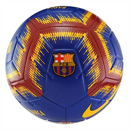 6ea63a087 Buy Nike FC Barcelona Strike Soccer Ball (Deep Royal Blue/University Gold)  Size 5 (SC3365-455) Online at Low Prices in India - Amazon.in