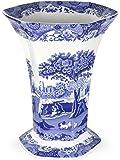 Spode Blue Italian  Hexagonal Vase