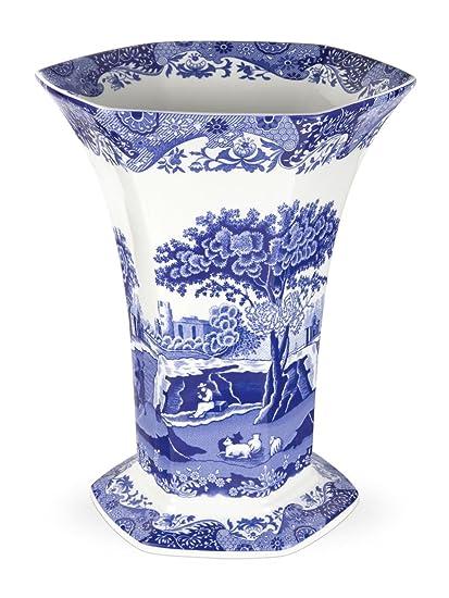 Amazon Spode Blue Italian Hexagonal Vase Home Kitchen