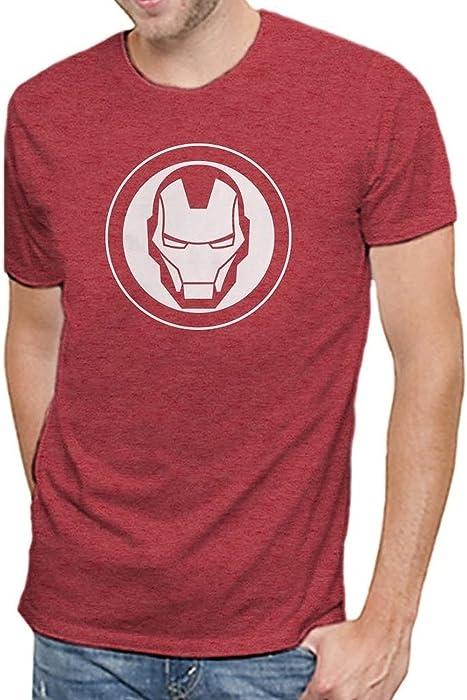 Amazon.com  Marvel Iron Man Logo Men s Soft Red Heather T-Shirt (S ... abced9dfe