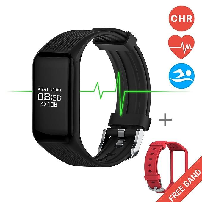 38 opinioni per Fitness Tracker, Monitoraggio Continuo Battito Cardiaco, MGCOOL Band 3