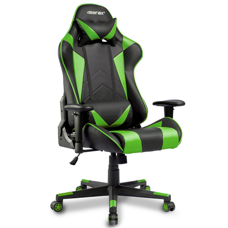 Merax Gaming Chair High Back Computer Chair Ergonomic Design Racing Chair (Green)