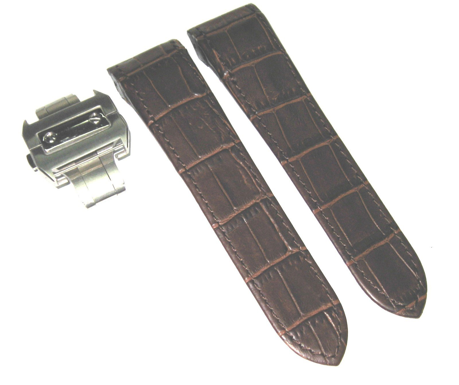 Complete 23mm Leather Strap Band for 38mm Cartier Santos 100 XL Brown