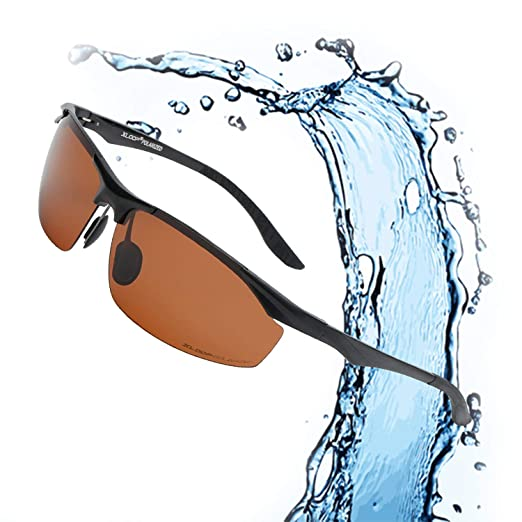 2cb15c8455 Image Unavailable. Image not available for. Color  Xloop Polarized  Rectangular Al-Mg Metal Half Frame Driving Sport Sunglasses For Men