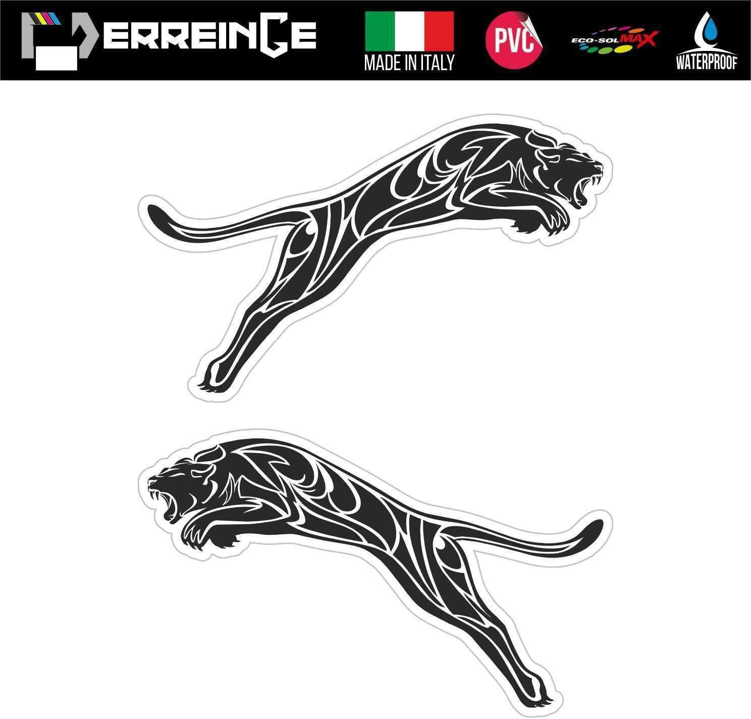 erreinge Sticker x2 Puma DX e SX Adesivo Sagomato in PVC per Decalcomania Parete Murale Auto Moto Casco Camper Laptop cm 10