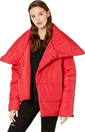 Romeo   Juliet Couture Womens Asymmetrical Puffer Jacket at Amazon ... cdd653ee2