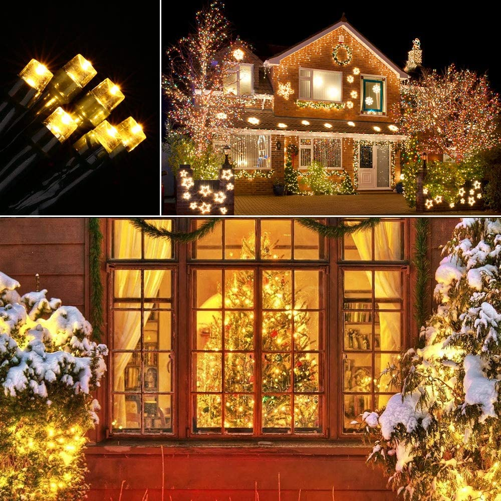 Hochzeit Bunt Qedertek 2 St/ück Solar Lichterkette Weihnachtsbeleuchtung au/ßen 8 Modi Solar Weihnachtsbaum Lichterkette Deko f/ür Garten Terrasse 20M 200 LED Solar Lichterkette Aussen Wasserdichte