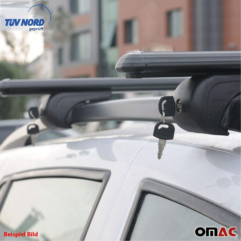 OMAC Aluminium Schwarz Dachtr/äger Relingtr/äger Dachgep/äckablage f/ür Vito W447 ab 2014 Fahrradtr/äger Dachgep/äcktr/äger Abschlie/ßbar Abnehmbar mit TUV ABE