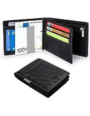 Vemingo Cartera Hombre con Clip para Dinero Portamonedas con Bloqueo de RFID para Tarjeta de Crédito