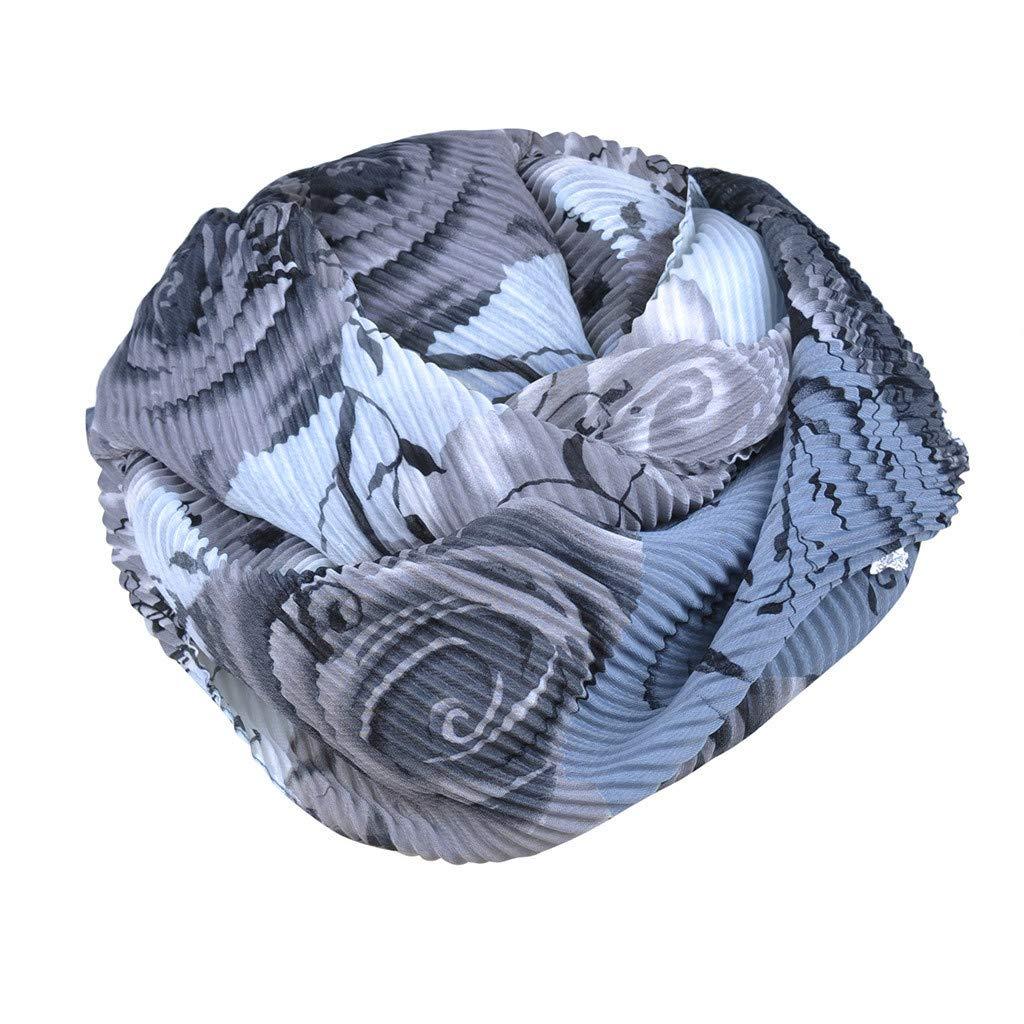 Amazon.com: Flower Pattern Warm Women Loop Scarf, Print Soft Chiffon Ring Infinity Shawl Wrap Accessories: Beauty