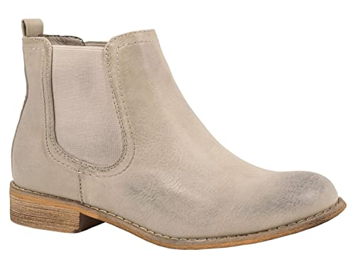 Elara Women Chelsea Boots | Comfortable Flat Boots | Leatherlook Ankle Boots  503-PA-