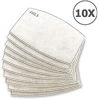 TBOC Filtro Desechable para Mascarilla - [Pack 10 Unidades] Lote de Filtros Intercambiables con 5 Capas de Filtración Material Suave y Transpirable Evita Polvo Sustancias Nocivas Contaminación