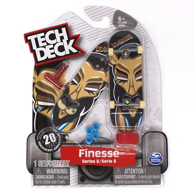 Amazon.com: Tech Deck Finesse Skateboards Ultra Rare Series 8 Lion Fingerboard - 20094601: Toys & Games