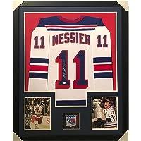 $574 » Signed Mark Messier Jersey - Framed Vertical Layout Pro Edition White JS - Autographed NHL Jerseys