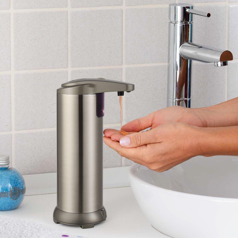 da 250 ml Mvpower ecc. base impermeabile dispenser di sapone automatico per la cucina e il bagno shampoo pu/ò contenere disinfettanti con sensore