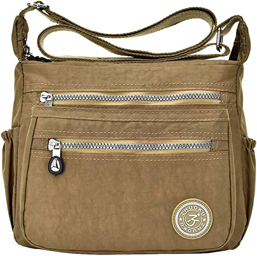 Light Men Women Casual Messenger Bag Nylon Waterproof Crossbody Shoulder Bags