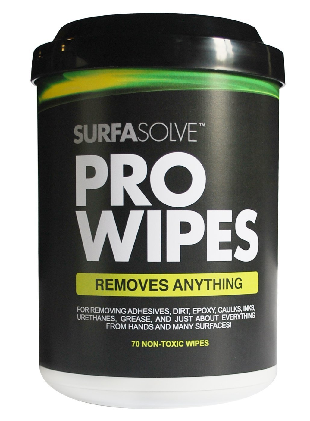 SURFASOLVE PRO WIPES - Case (6 Canisters of 70 Pre-Moistened Wipes)