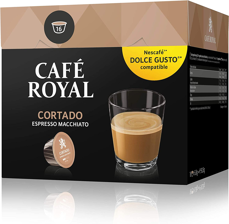 Café Royal Cortado 48 cápsulas compatibles con Nescafé Dolce Gusto ...
