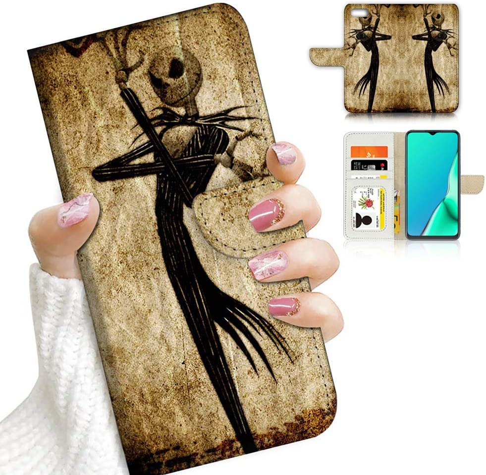 for iPod 7, iPod 6, iPod Touch 7th, 6th Generation, Designed Flip Wallet Case Cover, A23248 Nightmare Before Christmas 23248