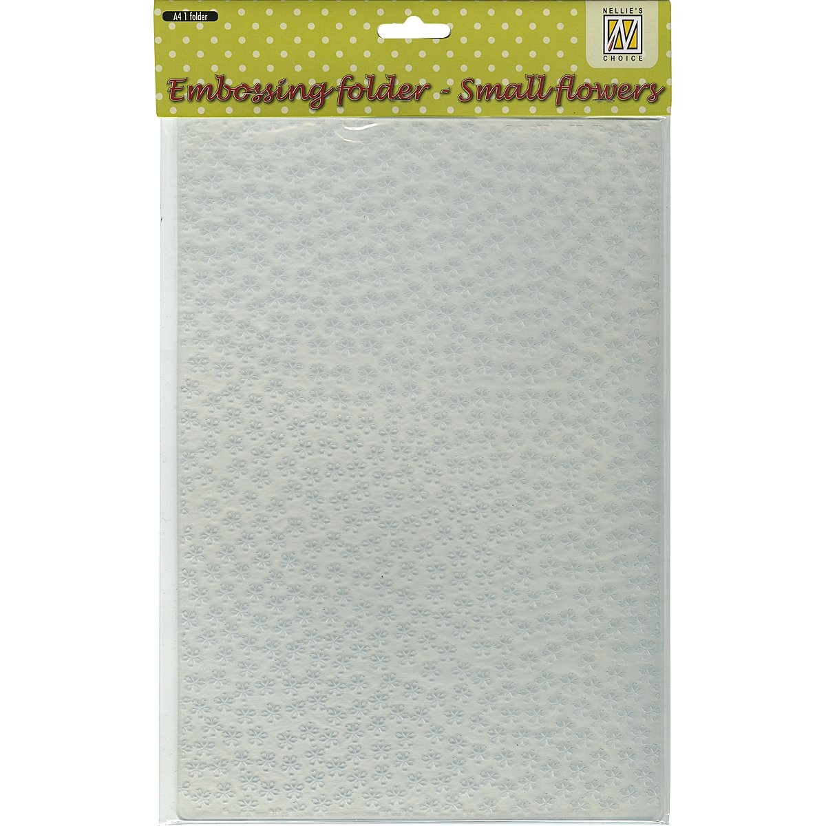 Ecstasy Crafts Nellie's Choice A4 Embossing Folder, Small Flowers EEBA406