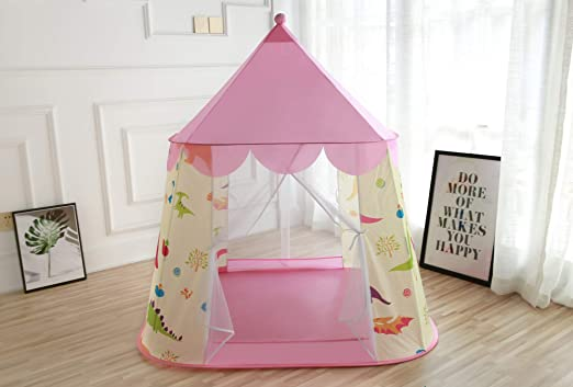 M MUITECH Casa de campaña para Niños y Niñas Bebes con Diseño de Dinosaurio para Interior y Exterior Tienda de Campaña Play House Casa de Juegos