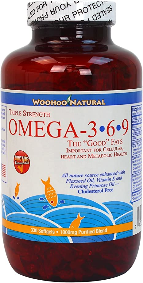 Amazon Com Woohoo Natural Triple Strength Cholesterol Free Omega
