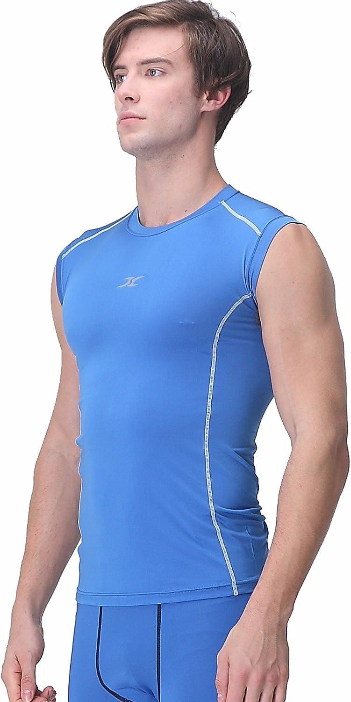 Mens Activewear Top Compression Base Layer Tank Shirt Gym Running Jersey Shirt