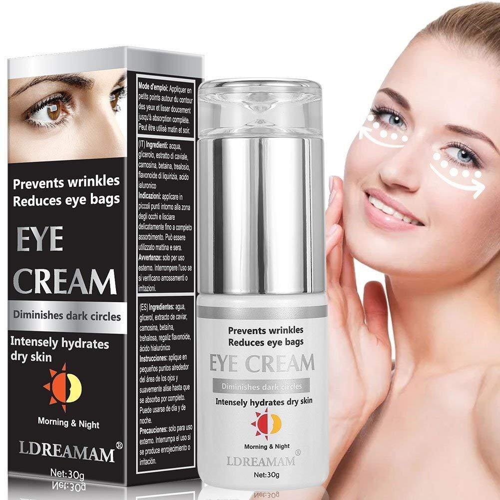 Eye Cream,Anti Wrinkle Eye Serum,Eye Treatment,Anti-Aging Cream for Face and Eye Treatment - Reduces Wrinkles, Bags, Saggy Skin & Puffy Eyes LDREAMAM