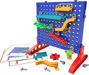 Educational Insights Design & DrillMarble Maze, Marble Run STEM Toy, Over 50 Pieces, Ages 5+