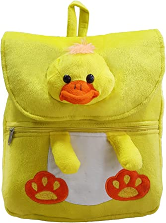 Ultra Felt Velvet School Bag with Chick Soft Toy (Yellow)