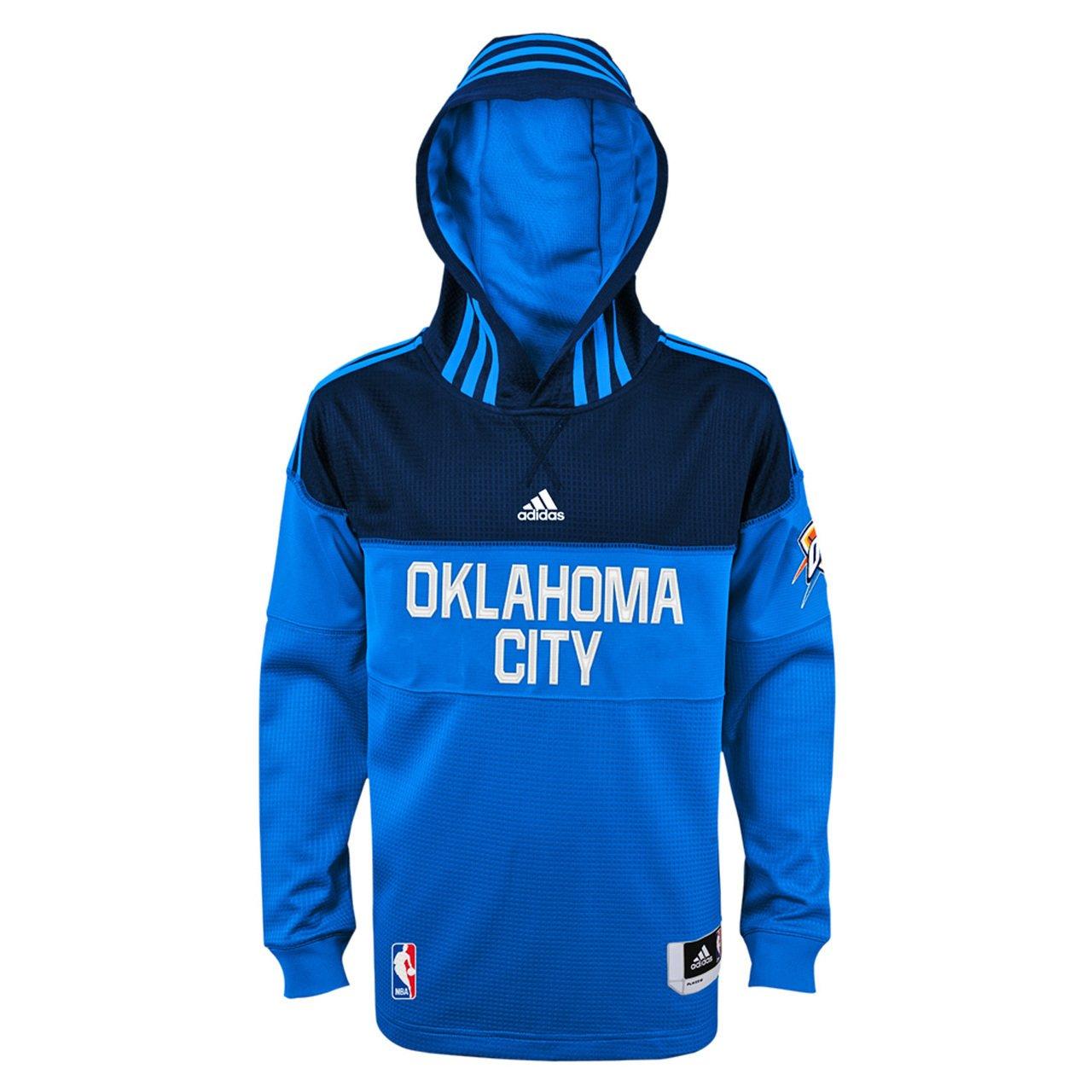 adidas Oklahoma City Thunder Youth Warm up Shooter Performance Hoodie