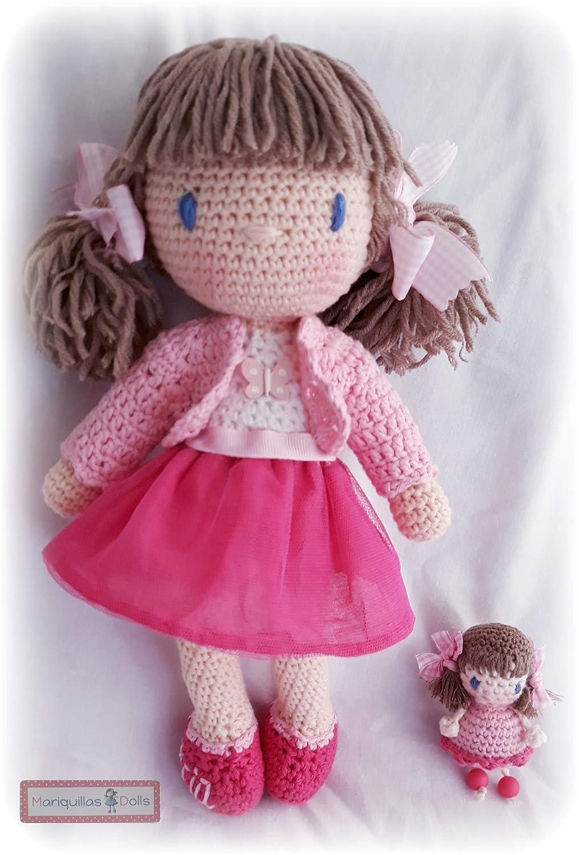 ALICIA Muñeca crochet PERSONALIZADA Mariquilla.: Amazon.es ...