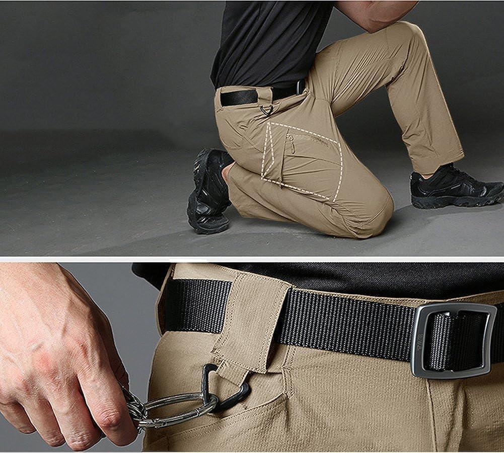 para hombre resistentes al agua Pantalones de secado r/ápido TACVASEN