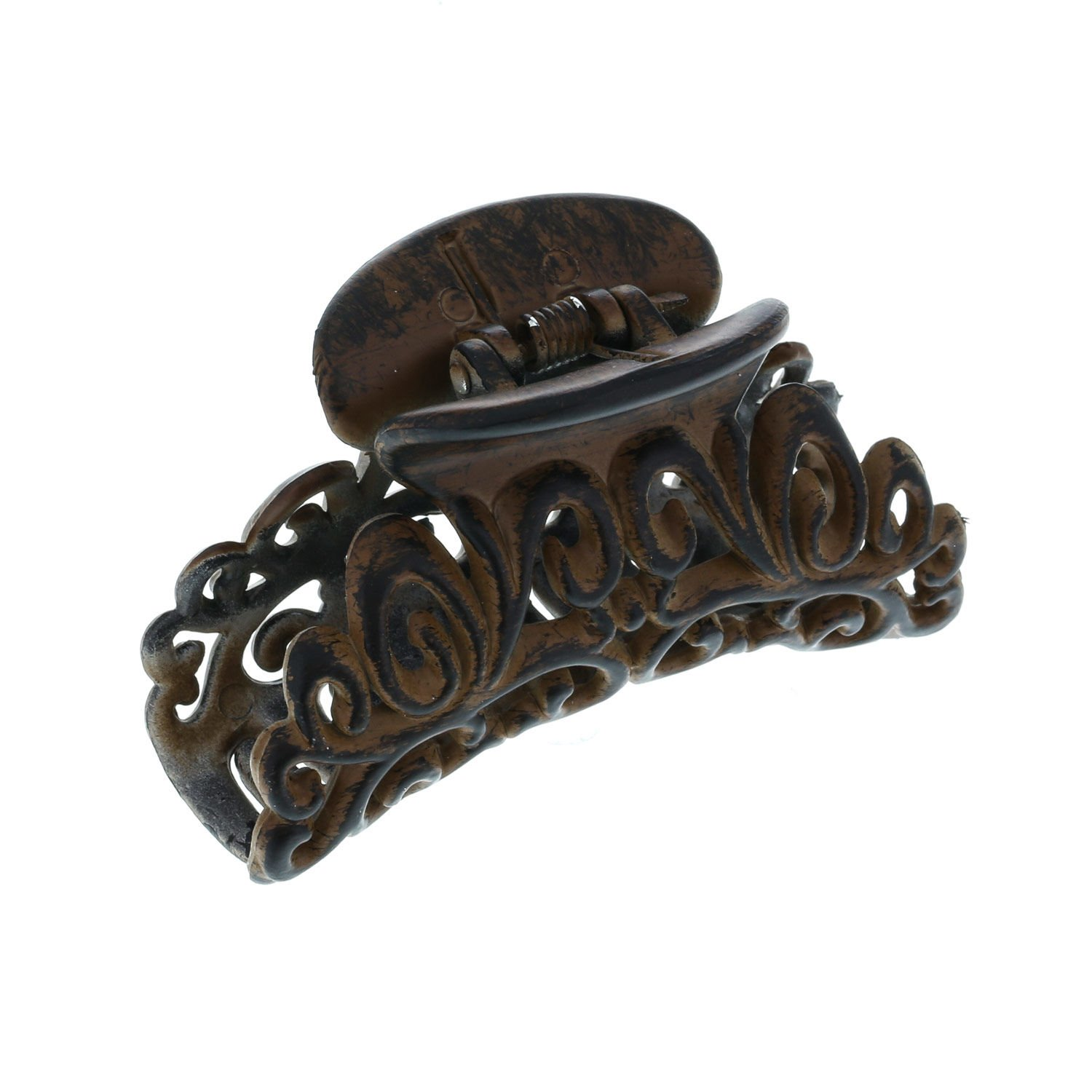 Claire's Women's Wood Effect Decorative Hair Claw in Brown Claire' s