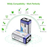 EBL 9V Rechargeable Batteries NiMH Everyday