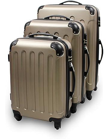532bd6c1ea0749 Todeco - Set de Valises, Bagages pour Voyage - Matériau  Plastique ABS -  Roues