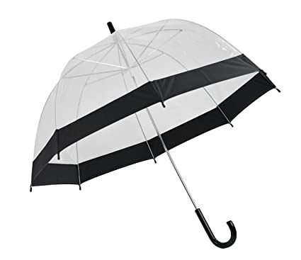 20d00d0755cb Home-X - Clear Bubble Umbrella with Black Trim, Durable Wind-Resistant  Umbrella with Sturdy Bubble Design Incapable of Flipping Inside Out, for  Men ...