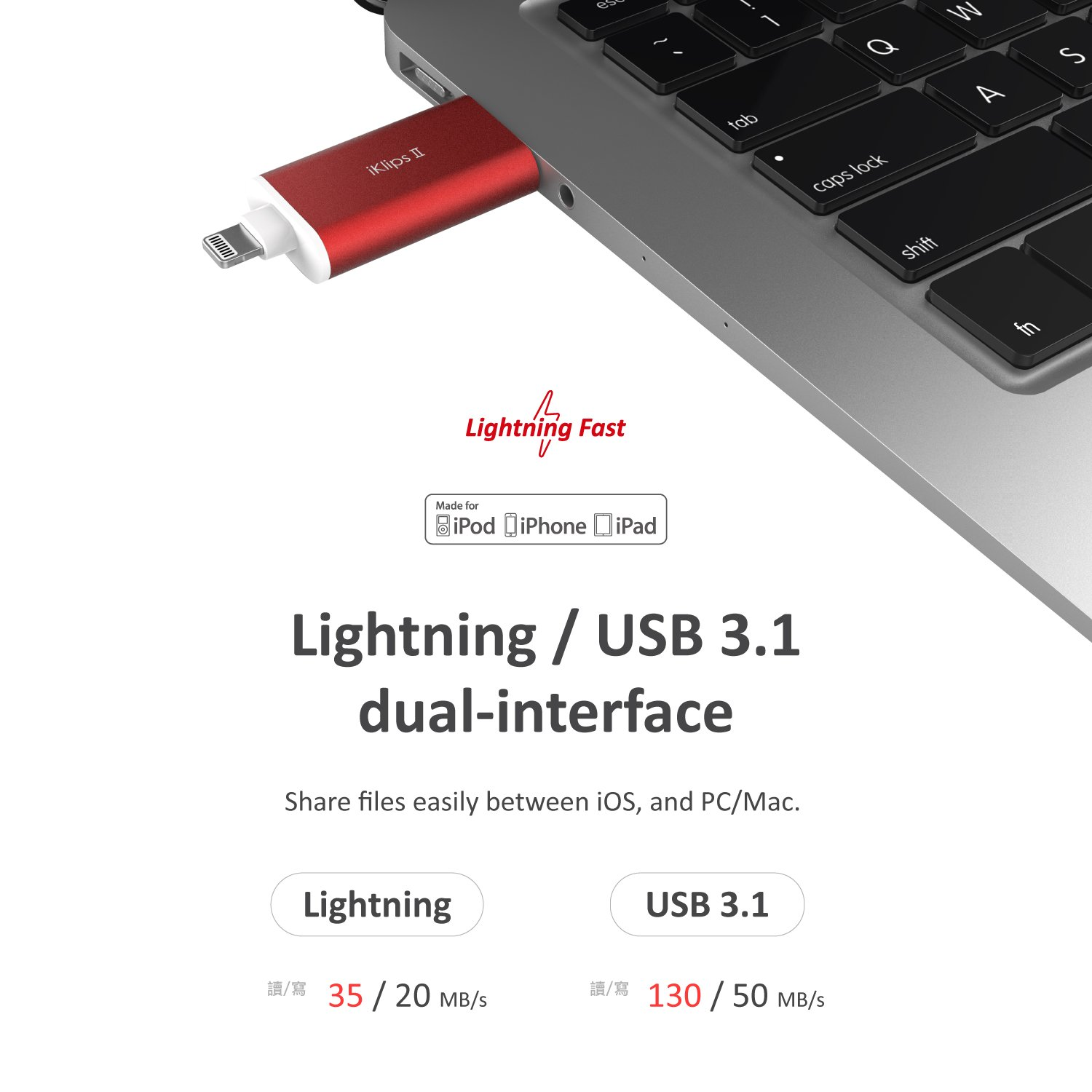A Adam Elements Iphone Flash Drive For Ios Ipad Element Iklips Duo 64 Gb Grey Lightning To Usb Thumb External Memory Storage Stick Extended Connector Fits With Any